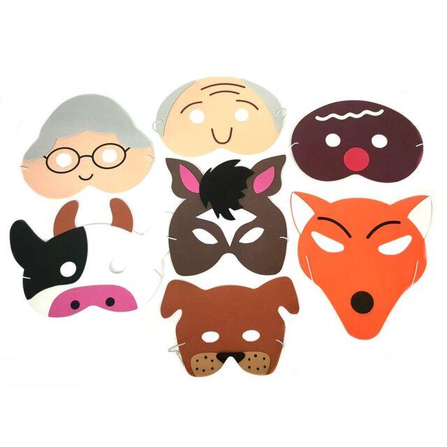 Gingerbread Man Story Masks - Children's Foam Story Fancy Dress Teacher Masks