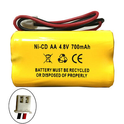 Emergency Light Exit Sign 4.8V 700MAH Ni Cd Battery Replacement -