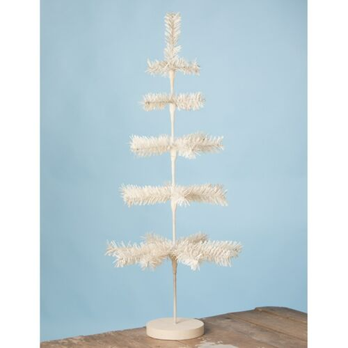 """Bethany Lowe Spring/Christmas White Artificial Feather Tree 30"""" Free Ship"""