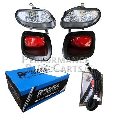 EZGO TXT T48 Golf Cart Full LED Headlight Kit with LED Tail Lights 2014-Up - Golf Cart Lighting