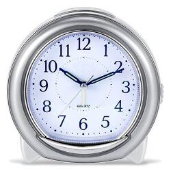 Super Silent Desk Alarm Clock, BonyTek Quartz Alarm Clock with Loud Mechanical