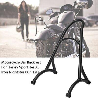 Motorcycle Backrest Short Bar For Harley Sportster XL Iron Nightster 883 1200 UK