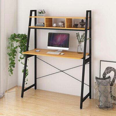 Computer Gaming Desk Ladder Desks Small PC Laptop Table Home Office Workstation