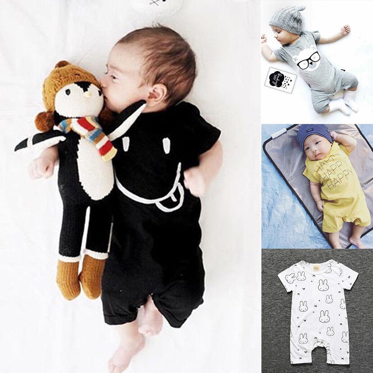 Newborn Toddler Baby Boy Girl Clothes Cotton Romper Bodysuit Kid Jumpsuit Outfit