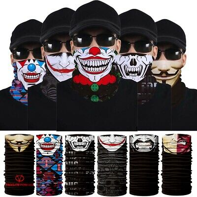 US Joker Clown Cycling Motorcycle Neck Tube Ski Scarf Face Mask Headband Gift](Joker Ski Mask)