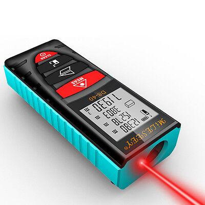 40m Mileseey Laser Distance Meter D8 Laser Digital Lcd Range Finder Measurement