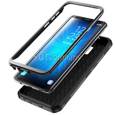 BLACK HEAVY DUTY TOUGH SHOCKPROOF HARD CASE COVER FOR MOBILE PHONES -