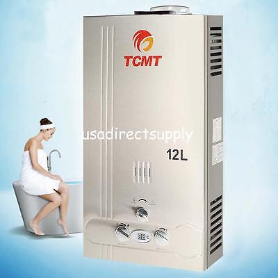 12L Natural Gas Tankless Hot Water Heater 3 2Gpm Instant Boiler Stainless Steel
