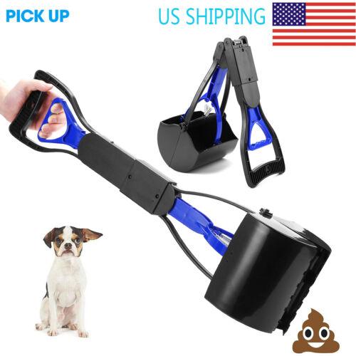 Dog Pooper Scooper Pet Waste Scoop Clean Poop Long Jumbo Handle Pick Up