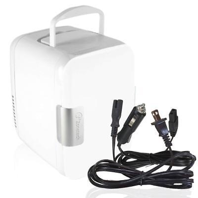 Zone Tech Portable Mini Fridge Cooler Warmer Car Boat Home Office AC DC White
