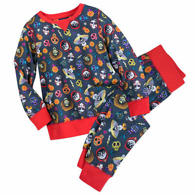 Disney Store Pixar Coco Girls toddler 9/10  Pajama 2 piece set sugar skulls](Toddler Girl Clothing Stores)