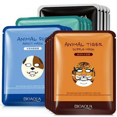 Animal Deep Moisture Face Mask Essence Facial Sheet Pack Skin Care Beauty Mask
