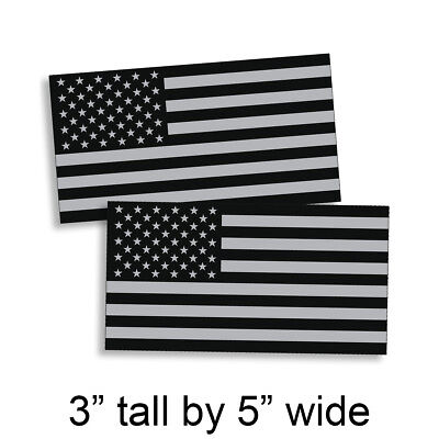Black OPS Gray 3 x 5 American Flag Sticker Grunge Car Truck Subdued USA Decal US - Gray Car Flag