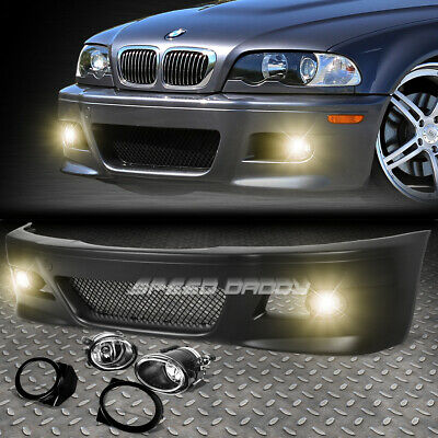 FOR 99-06 E46 3SERIES NON-M M3 STYLE REPLACEMENT FRONT BUMPER BODY KIT+FOG LIGHT Bmw E46 Front Bumper