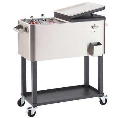 TRINITY Stainless Steel Cooler with Cover, 100 or 80 Qt, Mod