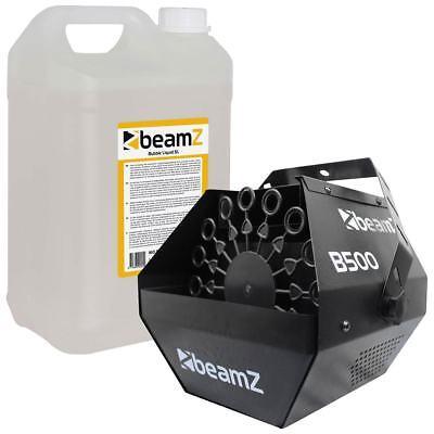 Beamz B500 SEIFENBLASENMASCHINE inkl. 5L Seifenblasenfluid Party Bubble Machine