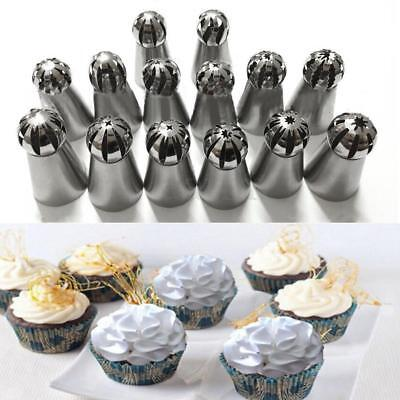 Pastry Bags (14Pcs Sphere Ball Icing Russian Piping Tips Nozzle Cupcake DIY Pastry Bags Set )