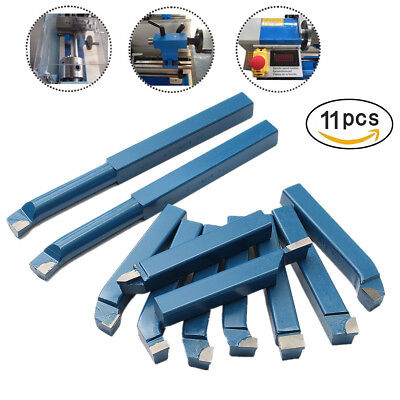 11pcs 10mm38 Carbide Tips Mini Metal Lathe Cutting Turning Boring Tool Bits