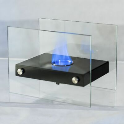 Tabletop Fireplace Portable Ventless Firepit Bio Ethanol Bla