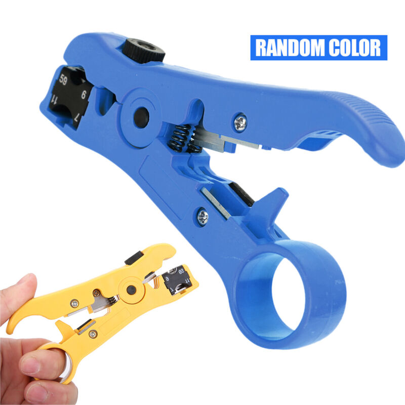 Rotary Coaxial Cable Wire Cutter Stripping Tool For RG59 RG6