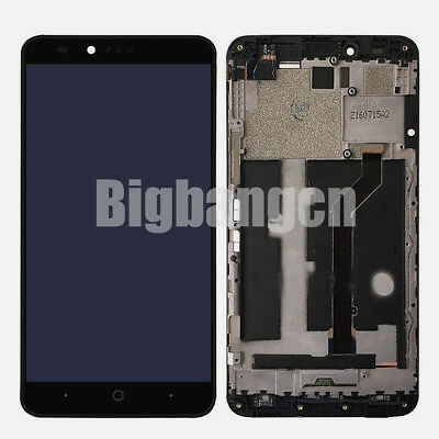 OEM ZTE ZMAX Pro Z981 LCD Display Screen Touch Screen Digitizer + Frame Assembly