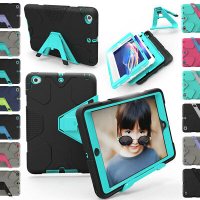 Ipad 2 Case Cover - Heavy Duty Shockproof Protective Hard KickStand Case Cover For Apple iPad 2 3 4