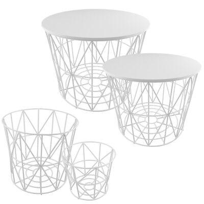 Weißen Drahtkorb (PrimoLiving Design Drahtkörbe in 4 Größen Drahtkorb Tisch Korb mit Deckel weiß)