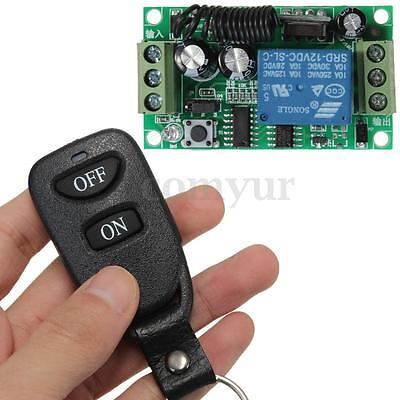 12V 10A Relay Wireless RF Remote Control Switch Transmitter & Receiver Upgrade