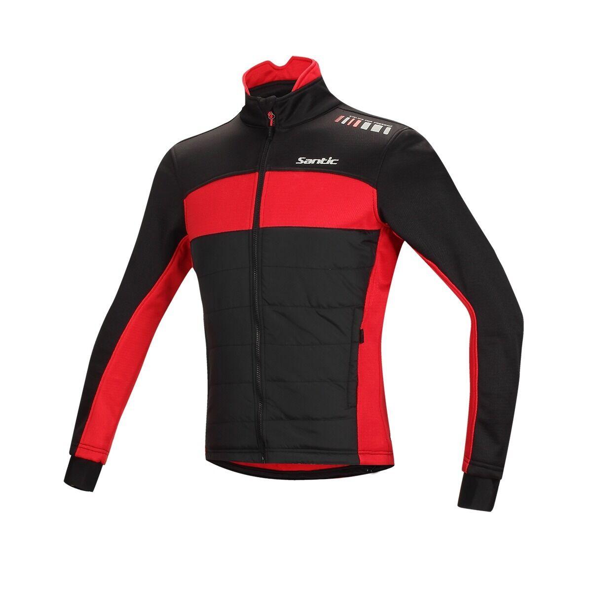 Santic Men's Winter Cycling Clothing Fleece Bike Long sleeve