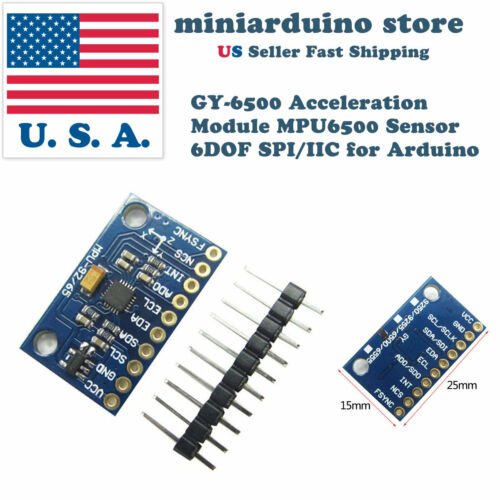 GY-6500 MPU6500 6DOF Acceleration Gyro Sensor Module I2C Breakout SPI Interface