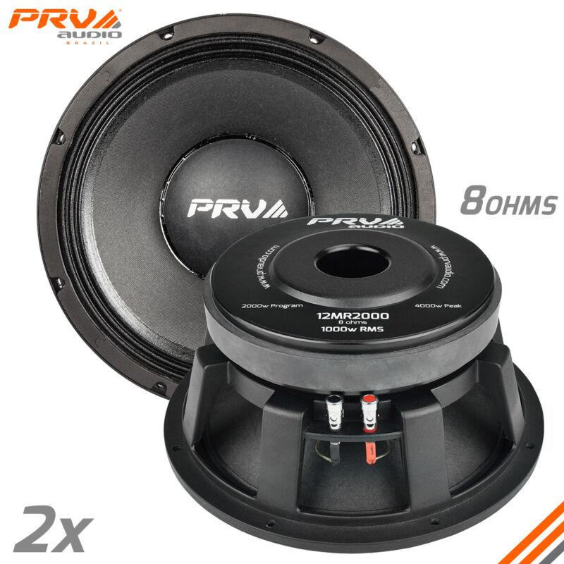 "2x PRV Audio 12MR2000 Mid Range Car Stereo 12"" Speaker 8 Ohm 12MR PRO 4000 Watts"