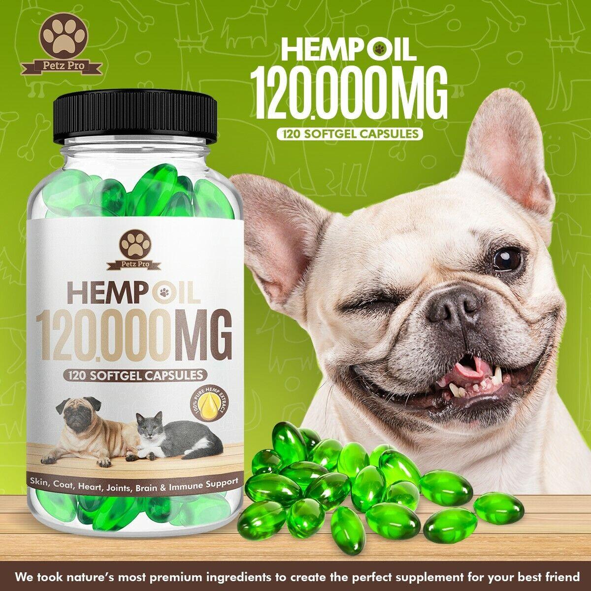 Hemp Seed Oil - 1000mg per 120 Capsule 120000mg/bottle, Rich in Omega 3 6 & 9  4