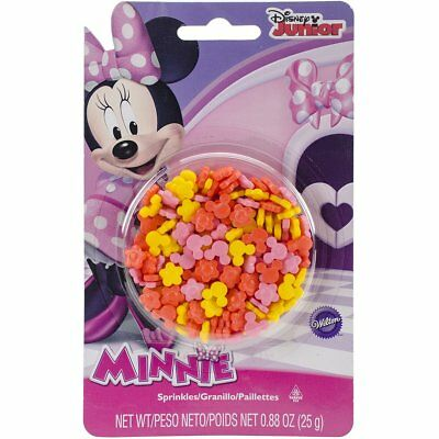 Minnie Mouse Pink, Orange, Yellow Edible Sprinkles - .88 oz - Yellow Sprinkles