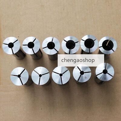 11pcs Precision R8 Collet 3mm - 20mm Kit Drawbar Thread 716-20 Tpi Q4499 Zx