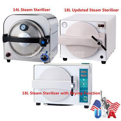 Usa Stock 14l18l Dental Autoclave Steam Sterilizer Medical Sterilization Drying