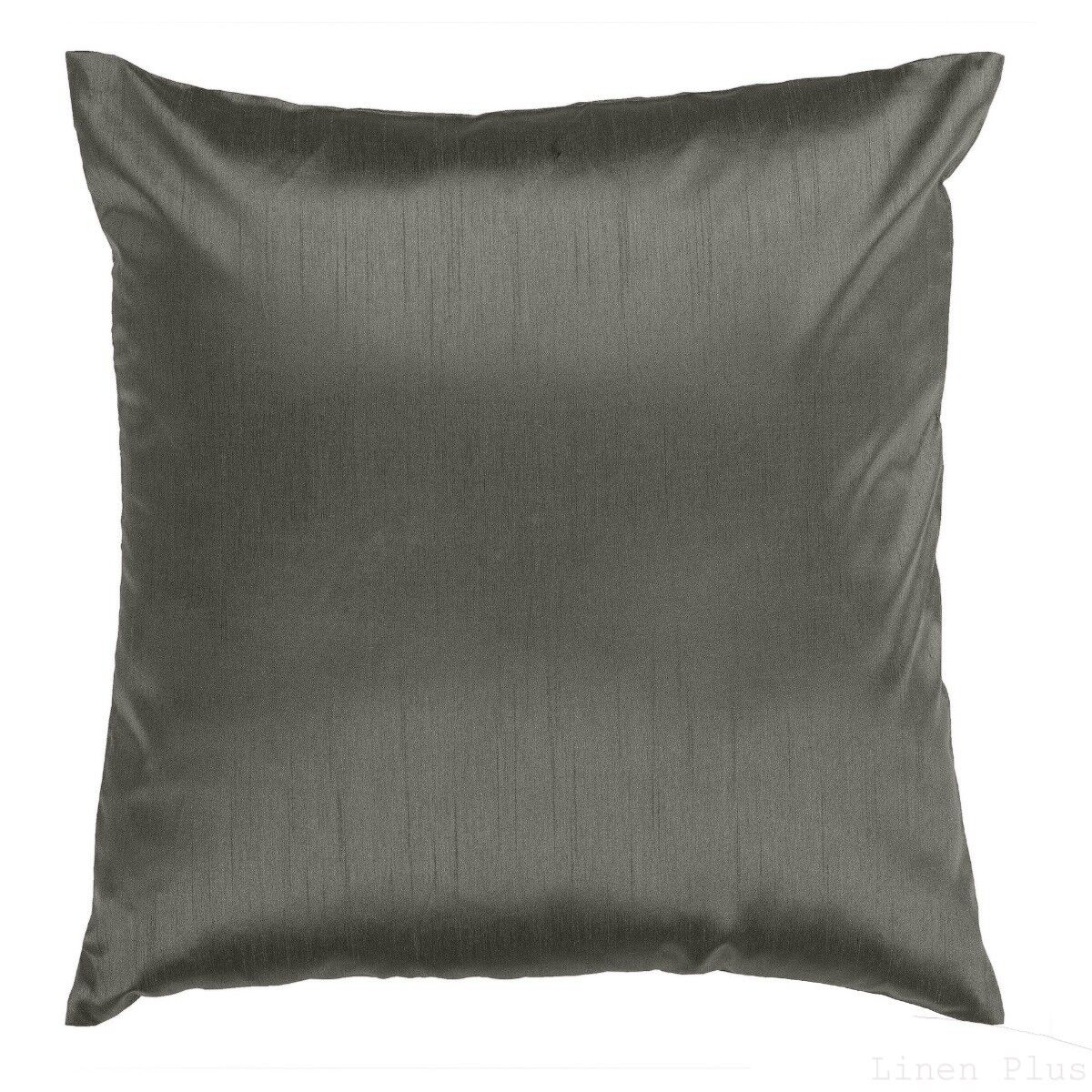 Solid Gray Cover Case Decorative Pillow Zippered Closure 18″ x 18″ 2 Piece Bedding