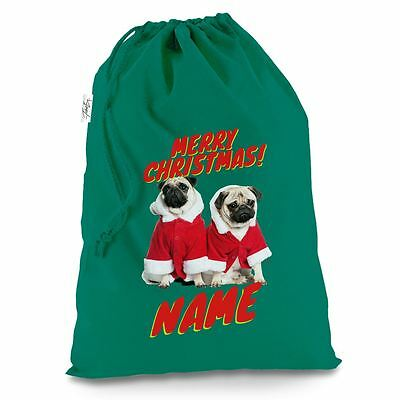 Personalised Santa Costume Pugs Green Luxury Christmas Santa - Pug Santa Costume