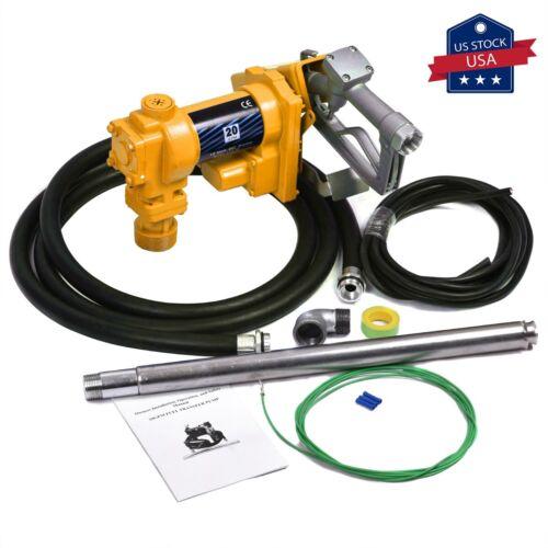 20GPM Fuel Transfer Pump Diesel Gas Gasoline Kerosene Car Truck Tractor 12V