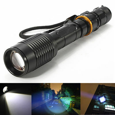 Tactical Police 12000LM Cree XM-L T6 LED 5Modes 18650 Flashlight Torch UltraFire