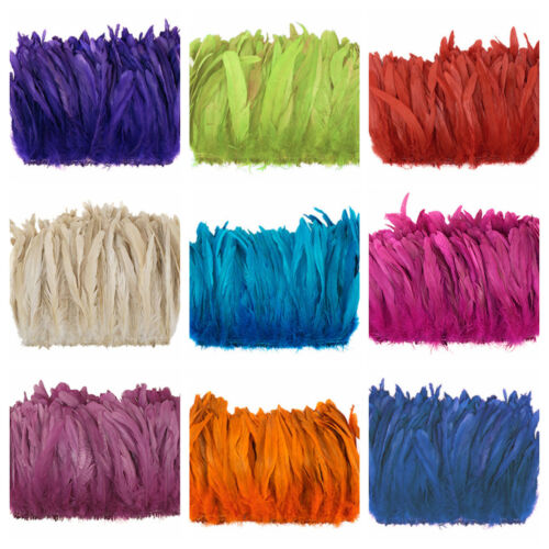 """ROOSTER COQUE Tail Feathers 4-7""""  Various Dyed Colors (Halloween/Crafts/Bridal)"""