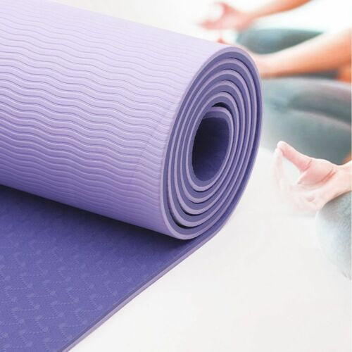 """72"""" Thick Yoga Mat Gym Camping Non-Slip Fitness Exercise Pilates Meditation Pad 6"""