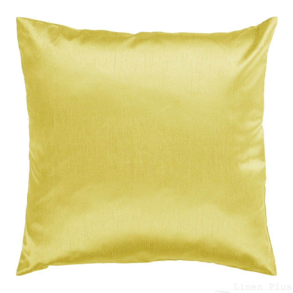 Yellow Cover Case Decorative Pillow Zippered Closure 18″ x 18″ 2 Piece Bedding