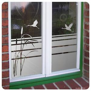 Fensterfolie-Sichtschutzfolie-Schilf-Floral-Glasdekor-Sonnenschutz