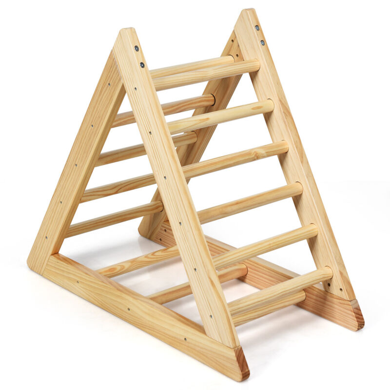 Wooden Climbing Pikler Triangle with Climbing Ladder For Toddler Step Training