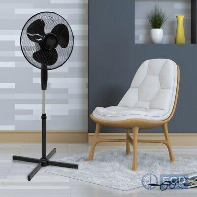 Oszillierende Metall (Standventilator Bodenventilator Windmaschine Luftkühler Oszillierend 45W Schwarz)