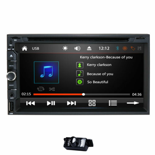 """Sony Lens Double 2Din 7"""" Car Stereo Radio DVD Player In Dash BT MP3 Mirror Link"""