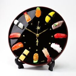 Just like genuine, real sushi watch wall clock · watch made in Japan