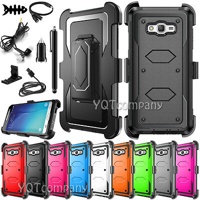 For Samsung Galaxy J3 2016 /J7 J700 Clip Holster Stand Case Cover W/ Accessories