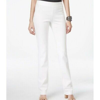 INC NEW Women's Ponte Curvy-fit Pull-on Straight-leg Casual Pants -