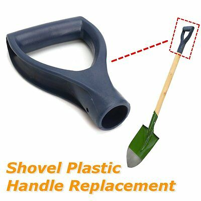 Plastic Scoop Poly D-Grip Handle Lawn Garden Snow Removal Spade Fork Shovel Blue